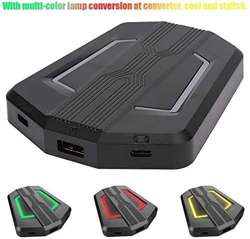 KJRJJP Teclado y ratón Adaptador convertidor, Teclado y ratón for el Interruptor del convertidor huésped Compatible for PS4 / Xbox One / PS3 / Xbox 360 anfitrión de conversión