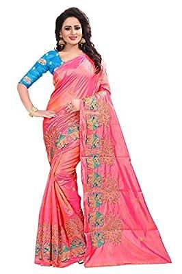 Ecolors Fab Women's Silk Saree With Blouse Piece