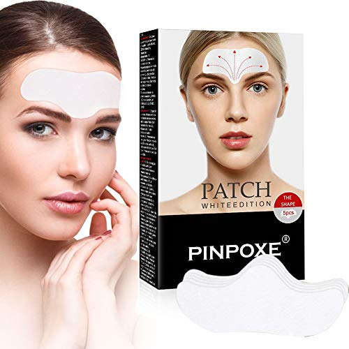 Facial Patches, Parches Faciales Antiarrugas, Parches Faciales Antiarrugas, Parches para la Reducción de Arrugas del Entrecejo, Antiarrugas Frente, elimina las arrugas de cejas, 5PCS