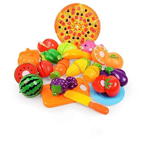 Adore store Cocina de Juguete Diversión Frutas Cortar Verduras Jugar, Comida Playset educativos para la Primera Edad Habilidades Básicas de Desarrollo para los niños 24PCS