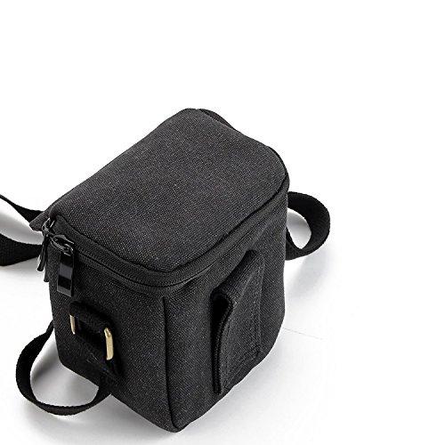 K-S-Trade Compatible avec Sony Cyber-Shot DSC-HX60 Épaule Caméra Mallette Transport Sac Résistant Chocs Météo Protecteur Compact Housse étui Saccoche Pouchette Noir (1x)