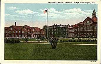 Sectional View of Concordia College Fort Wayne, Indiana Original Vintage Postcard