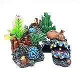 JNXY Accesorios De Equipo De Acuario Accesorios De Pescado De Vidrio De Rocoso Paisajismo Decoración De Resina Artesanía Cáscara Coral Corral Plantas Divertidas