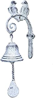 CTW Songbirds Wall Mounted White Dinner Bell Set of 2,13.50H