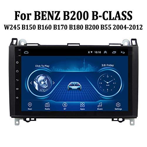 MonLG Auto GPS, Eingebaute 9-Zoll-Offline-Karte, Android 9-Autoradio-Multimedia-Player für Mercedes Benz B200 B-Klasse 2004-2012, mit Bluetooth-Freisprecheinrichtung,4g+WiFi 1g+32g