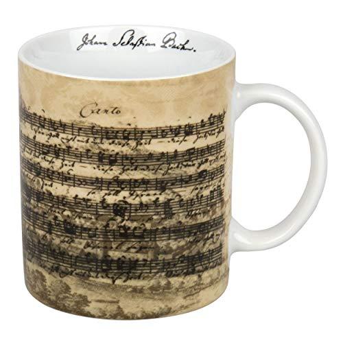 Könitz Facsimile Bach Becher, Tasse, Kaffeetasse, Johann Sebastian Bach, Porzellan, 330 ml, 11 1 002 1215