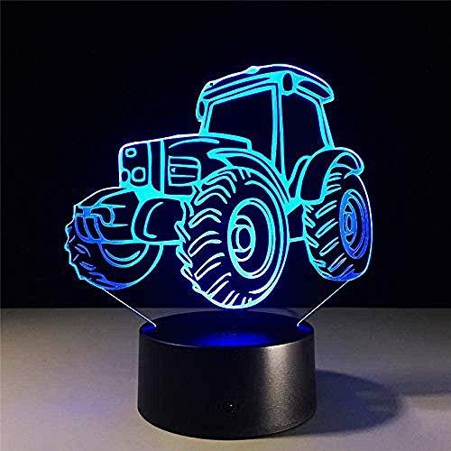 Ilusión Óptica 3D Led Luz Lámpara De Tabla Para Decoración Del Hogar Bicicleta De Montaña 7 Colores Cambio De Botón Táctil Usb De Suministro De Energía Cumpleaños Navidad Festival Regalos Para Niños