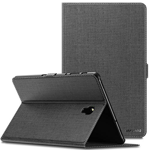 INFILAND Samsung Galaxy Tab A 10.5 Hülle Hülle, Slim Ultraleicht Halten Schutzhülle Cover Tasche für Galaxy Tab A 10.5 (T590 Wi-Fi/T595 LTE) 2018 (mit Auto Schlaf/Wach Funktion),Grau