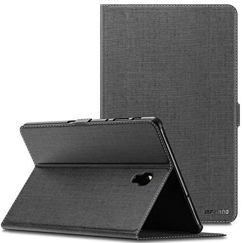 INFILAND Samsung Galaxy Tab A 10.5 Hülle Case, Slim Ultraleicht Halten Schutzhülle Cover Tasche für Galaxy Tab A 10.5 (T590 Wi-Fi/T595 LTE) 2018 (mit Auto Schlaf/Wach Funktion),Grau