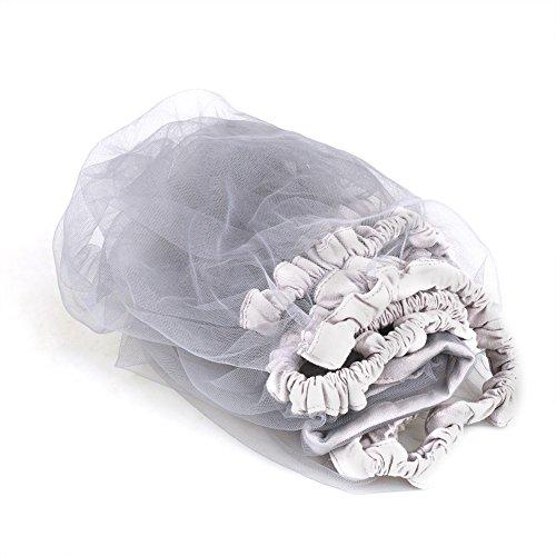 Dauerhaft - Mosquitera ventilada para bebé, carpa protectora para bebé, red y algodón 100% nuevos, adecuada para cochecito de bebé, cama infantil(Gris)