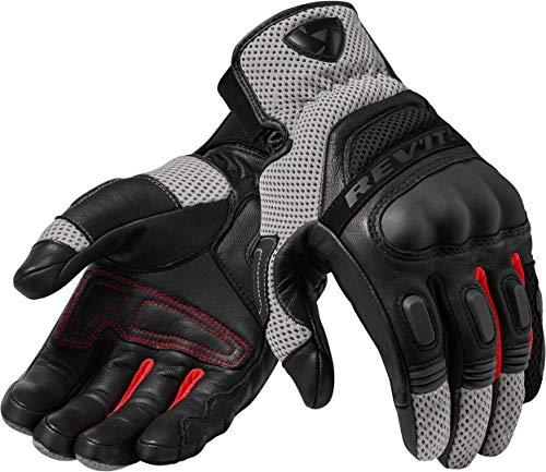 REV'IT! Guantes cortos para moto Dirt 3, para hombre, enduro, verano, piel y tela blanco / rojo S
