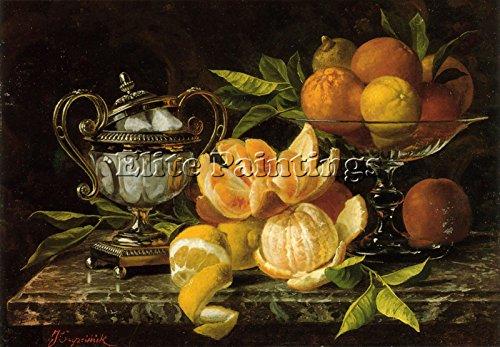 Elite-Paintings Jean CAPEINICK Nature Morte AUX Oranges ET CITRONS Artista Quadro Dipinto A Olio 70x100cm Alta qualita