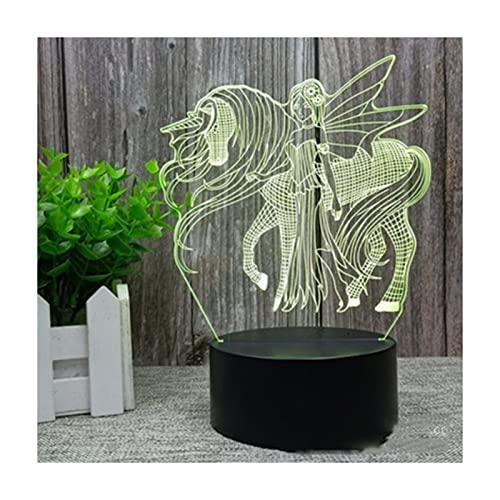 Botitu Luz De Noche 3D con Control Remoto, 16 Colores Lámpara De Suspensión LED Controlable, Regalo para La Fiesta De Cumpleaños De Navidad,A