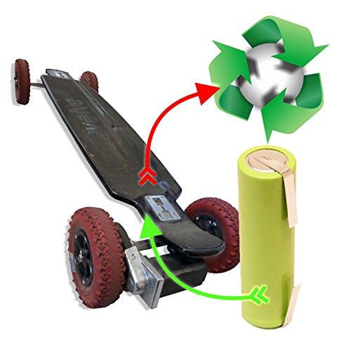 akkutauschen.de Zellentausch/Akku-Reparatur Refresh Akkutausch für elektrisches akkubetriebendes Longboard/Skateboard kompatibel u.a. mit EVOLVE36 V 15Ah