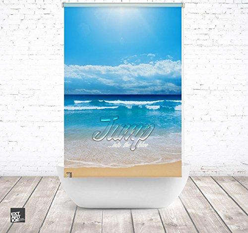 ERSATZ KLEINE Wolke Duschrollo für Leerkassette Jump Strand Textil Badewanne