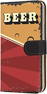 スマホケース 手帳型 カードタイプ Galaxy Note9 SC-01L・SCV40 対応 [BEER ビール・レッド] ビンテージ アメリカン レトロ USA SAMSUNG サムスン ギャラクシー ノートナイン docomo au スマホ...