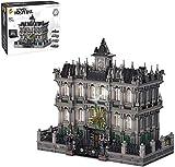 Bloques de construcción Lunatic Hospital Horror Arquitectura Bloques de construcción Set Moc Construction House Modelo con Luces Conjuntos de Edificios modulares compatibles con Lego (7537PCS)