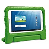 HDE Kids Case for Samsung Galaxy Tab E Lite 7 and Galaxy Tab 3 Lite 7.0 - Shockproof Kid Friendly Protective Handle Cover Stand (Green)