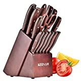Best Knife Block Sets - Keenair Knife Sets, 15-Piece Kitchen Knife Set Review