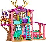 Enchantimals coffret La Maison de Danessa Biche, mini-poupée, figurine animale Sprint et accessoires, emballage fermé, jouet pour enfant, GWG90