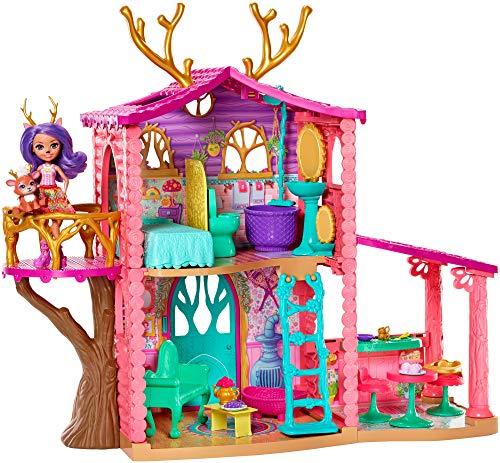 Oferta de Enchantimals - Casa Danessa con muñeca Danessa y mascota, casa de muñeca con accesorios (Mattel GW90)
