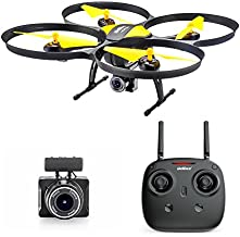 Altair 818 Hornet Beginner Drone with Camera | Live Video Drone for Kids & Adults, 15 Min Flight Time, Altitude Hold, Personal Hobby Starter RC Quadcopter for All Ages (Yellow 818 Hornet)