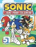 Sonic libro para colorear: Sonic libro de colorear con imágenes de alta calidad para Niños de 2 a 8 años