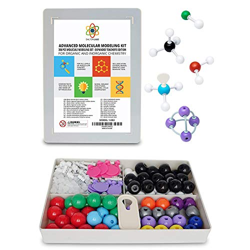 Dalton Labs Molecular Model Kit with Molecule Modeling Software and User Guide - Organic, Inorganic Chemistry Set for Building Molecules 306 Pcs Advanced Chem Biochemistry Student Edition