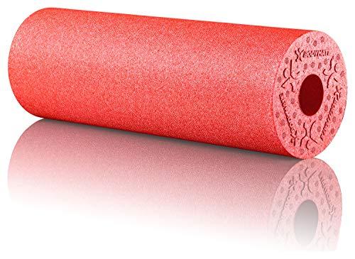 BODYMATE Faszienrolle Standard Mittel-Hart mit Gratis E-Book - Pepper-Red 45x15cm