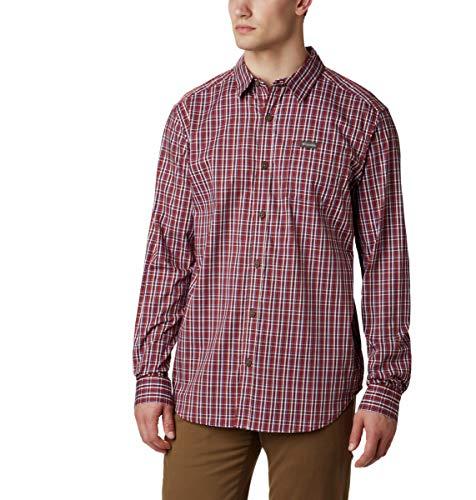 Columbia Herren Vapor Ridge III Long Sleeve Shirt Hemd, Roter Jaspis Mini Check, XX-Large