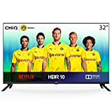 """CHiQ Televisor Smart TV LED 32"""" HD, WiFi, Bluetooth (Solo Auriculares y Altavoces), Netflix, Prime Video, Youtube, Facebook, USB, L32H7N"""
