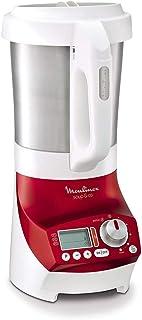 Moulinex LM906110 Blender Chauffant Soup & Co Mixeur Soupes Gaspachos Smoothies Compotes 1100W 2L Rouge