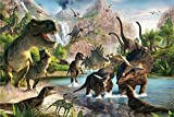 Lee My Holzpuzzle Klassisches Puzzle Artwork Ölgemälde Jigsaw Puzzles 1000 Teile Erwachsene Puzzle DIY Collectibles Moderne Wohnkultur,75X50Cm,In The Age of Dinosaurs