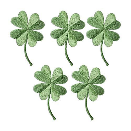 Healifty 5 Piezas Parches Bordados Trébol Irlandés