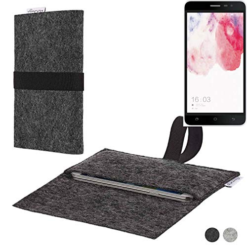 flat.design Handy Hülle Aveiro für Hisense F20 Dual-SIM passgenaue Filz Tasche Case Sleeve Made in Germany