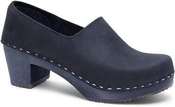 Sandgrens Swedish High Heel Wooden Clogs for Women   Bridget
