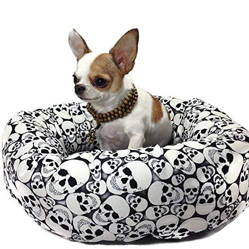 Skulls Glow in the Dark Round Pet Bed