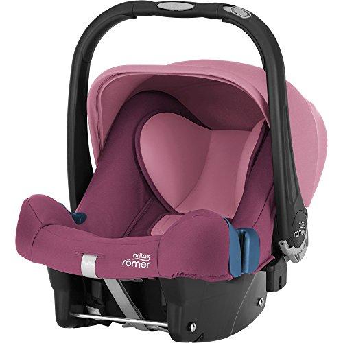Britax Römer Babyschale Geburt - 13 Monate I 0 - 13 kg I BABY-SAFE PLUS SHR II Autositz Gruppe 0+ I Wine Rose