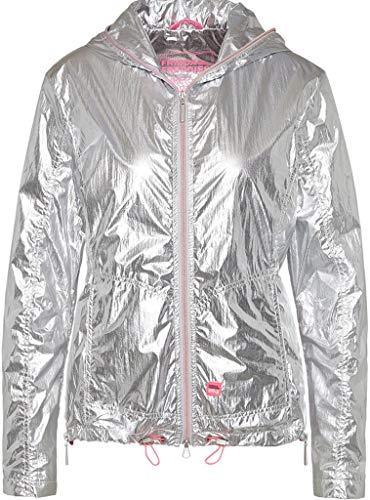 Frieda & Freddies Damen Sport Jacke in Silber Größe 38 EU Silber (Silber)