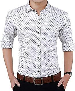 "ZAKOD Men's Polka Print Full Sleeve Slim Fit Semi Formal Shirts for Men100% Cotton Shirts,Colour and Size Choose According 4 Colour Available M=38"",L=40"",XL=42"""