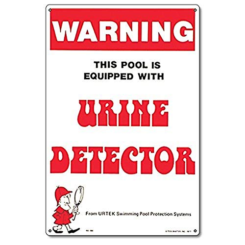 Poolmaster Sign for Residential or Commercial Swimming Pools, Urine Detector