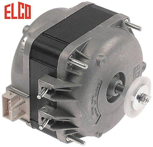Elco Ventilador Motor 230V 16W 50/60Hz 1300/1550u/min Conector Plug Rodamiento de deslizamiento en