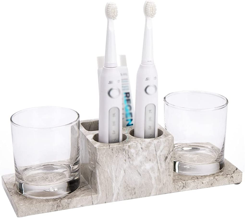 HBR OFFicial store Toothbrush Holder Punch-Free Rack Couples to for 5 popular