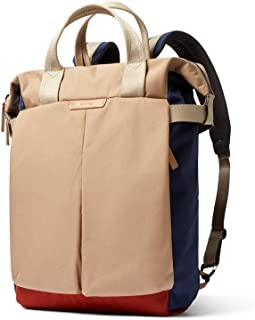 """Bellroy Tokyo Totepack, Water-Resistant Woven Convertible Backpack and Tote Bag (15"""" Laptop, Tablet, Notes, Cables, Drink Bottle, Spare Clothes, Everyday Essentials) - Desert Ochre"""