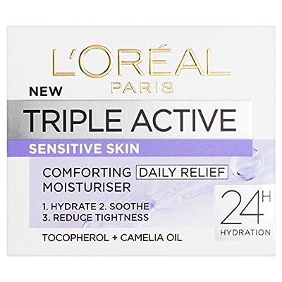 L'Oreal Paris Triple Active Day Comforting Moisturiser for Sensitive Skin 50 ml from Loreal