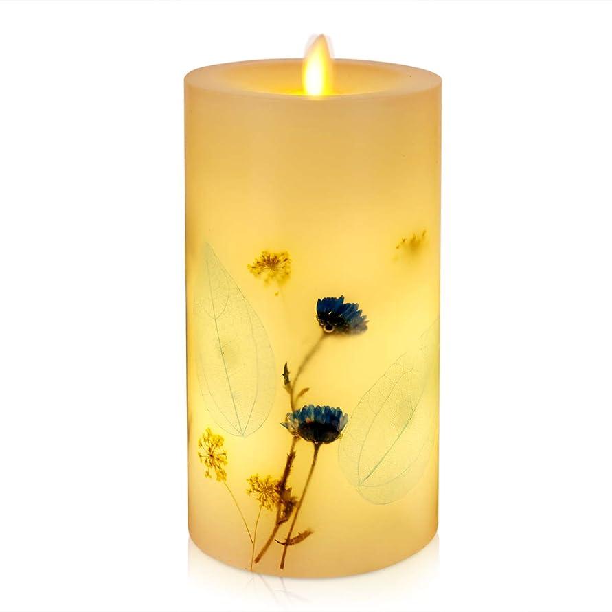 起きる接続された小道具Di Maggio LEDキャンドル ラベンダーバニラの香り ピラーキャンドル アイボリー蝋燭灯 タイマー機能付き