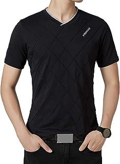 FRTCV Men's Casual Long Sleeve V-Neck Cotton T-Shirts Casual Shirt
