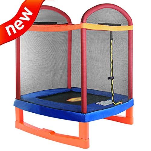 DXIUMZHP Trampoline Indoor-Trampolin Für Kinder Sprungbett Mit Sicherheitsnetz Garten Im Freien Rebounder Hochelastisches Trampolin Größe: 5,2 Fuß (Color : Blue, Size : 1.26 * 1.75m)
