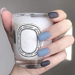 Jozape Matte Press on Nails Black Short Square Fake Nails Artificial Full Cover False Nails for Women and Girls (24Pcs)
