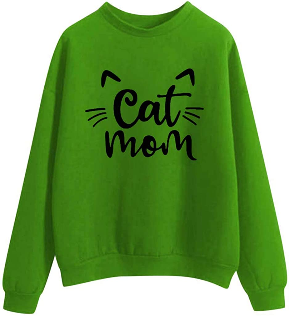 POTO Womens Pullover Hoodies Letter Print Crop Tops Long Sleeve Sweatshirt Solid Tee Shirts Casual Tops Blouse